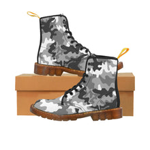 Load image into Gallery viewer, Gray Camouflage Pattern Martin Style Boots
