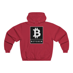 Bitcoin BTC Poster Black Men's NUBLEND® Hooded Sweatshirt