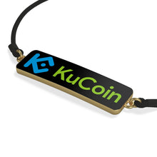 Load image into Gallery viewer, KuCoin Cryptocurrency Exhange Logo, Cord Bracelet