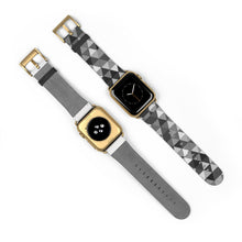 Load image into Gallery viewer, Gray Triangle Pattern, Apple Watch Band