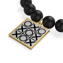Load image into Gallery viewer, Tic Tac Toe, Matte Onyx Bracelet