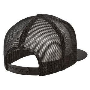 Fuck You In Japanese Black 3D Puff, Classic Trucker Cap
