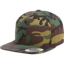 Load image into Gallery viewer, Grafitti Text Purple 3D Puff, Snapback Hat CAMO