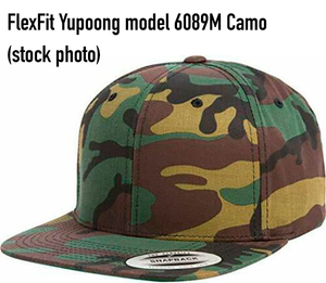 FlexFit Yupoong Hats model #6089M Camouflage