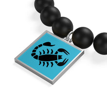 Load image into Gallery viewer, Scorpio Zodiac Sign, Matte Onyx Bracelet