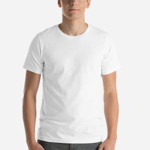 Design Your Own, Unisex Short Sleeve Jersey T-Shirt White