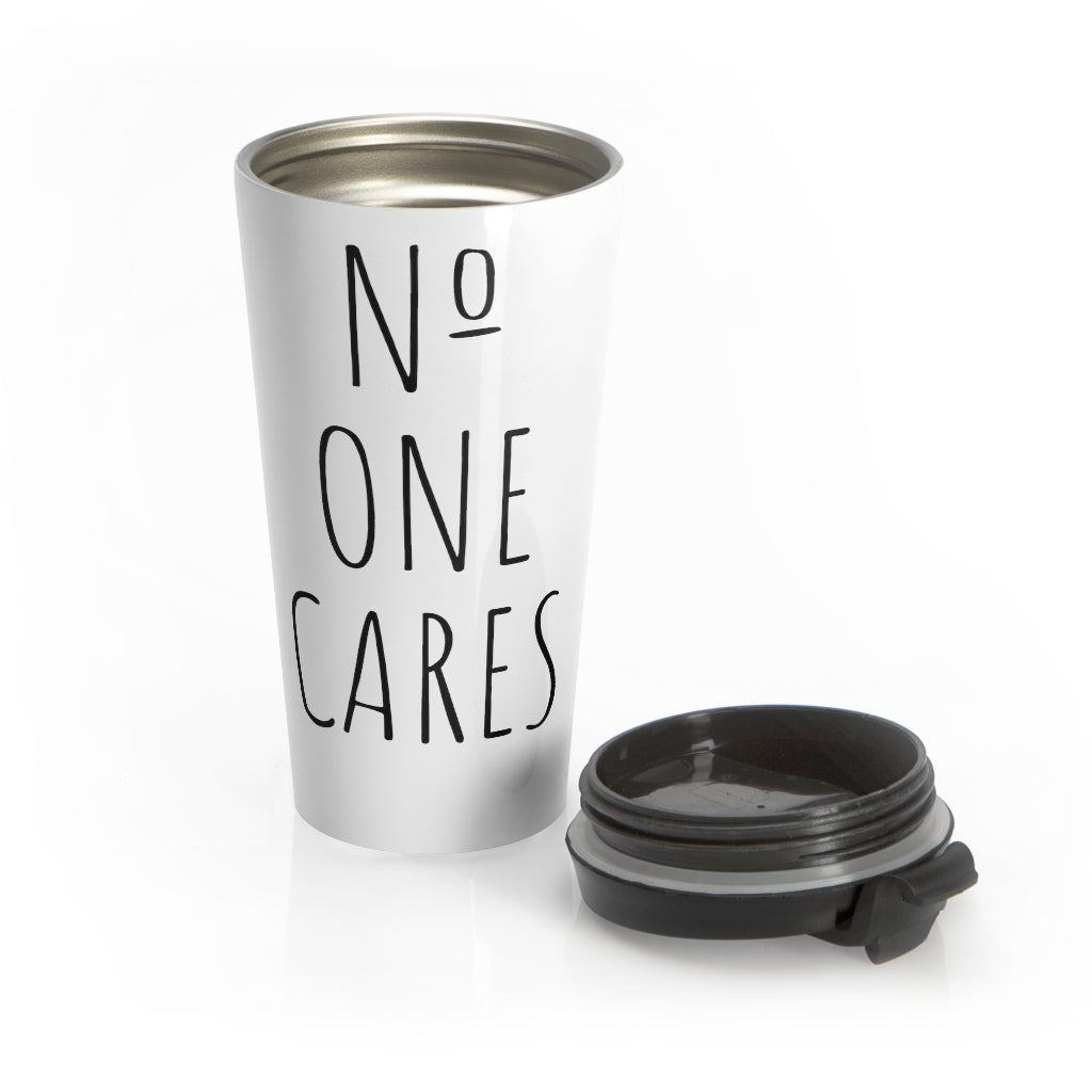 Number One Cares Stainless Steel Travel Mug