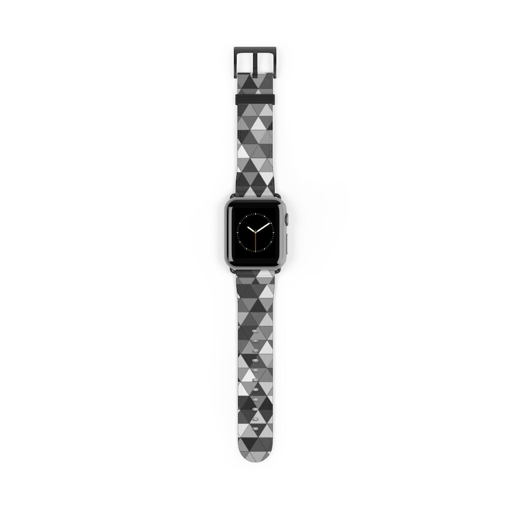 Gray Triangle Pattern, Apple Watch accessories