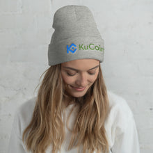 Load image into Gallery viewer, KuCoin Cryptocurrency Exchange Logo, Unisex Cuffed Beanie