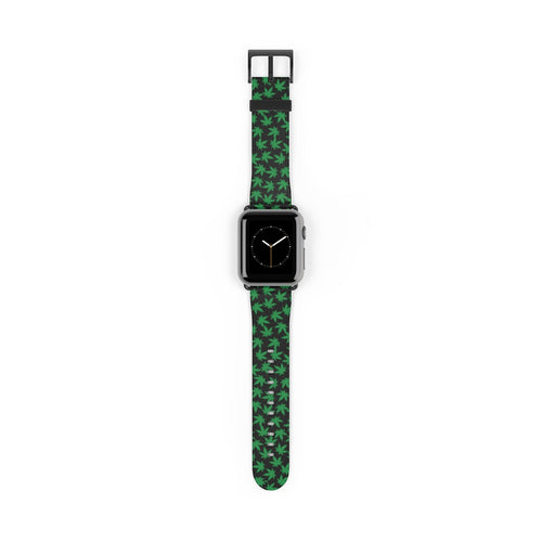 Cannabis Leaf Pattern, Apple Watch Band
