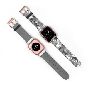 Gray Camouflage Pattern, Apple Watch Band
