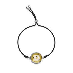 Dogecoin Cryptocurrency Logo, Coin Cord Bracelet