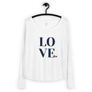LOVE, Women's Flowy Long Sleeve Tee