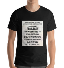 Load image into Gallery viewer, male model wearing Alcatraz prison t-shirt