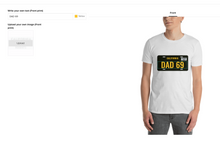 Load image into Gallery viewer, t shirt design tool page screenshot