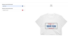 Load image into Gallery viewer, t shirt design tool screenshot