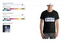 Load image into Gallery viewer, t-shirt design console page