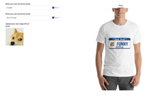 Load image into Gallery viewer, design t-shirt tool page