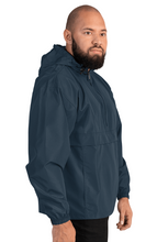 Load image into Gallery viewer, Nano Cryptocurrency Logo, Embroidered Champion Packable Outdoors Jacket