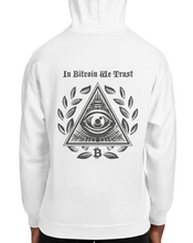 Load image into Gallery viewer, In Bitcoin We Trust, Unisex Hooded Sweatshirt Back