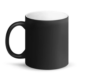 Malcom Black Letter X, Matte Black White Magic Mug