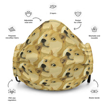 Load image into Gallery viewer, Dogecoin Shiba Inu, Premium Face Mask