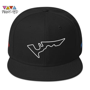 Austin Texas Circuit Of The Americas Track Map 3D Puff Snapback Hat Cap