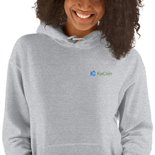 Load image into Gallery viewer, KuCoin Cryptocurrency Exchange Logo, Unisex Hooded Sweatshirt