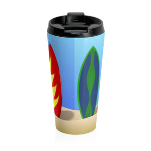 Beach Surfing Boards, Stainless Steel Travel Coffee Mug