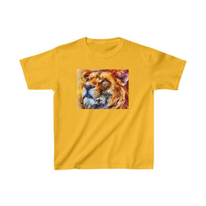 Lion Wild At Heart, Kids Heavy Cotton T-shirt