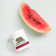 Load image into Gallery viewer, California Republic Flag, White Glossy Coffee Mug