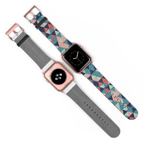 Multicolor Triangle Pattern, Apple Watch Band