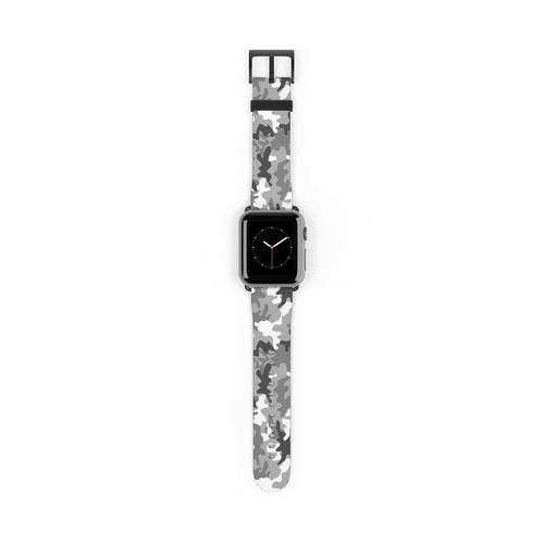 Gray Camouflage Pattern Apple Watch Band