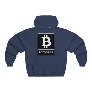 Bitcoin BTC Poster Black, Men's NUBLEND® Hooded Sweatshirt