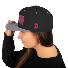 Load image into Gallery viewer, Bitcoin BTC Cryptocurrency Hot Pink, Snapback Hat