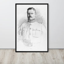 Load image into Gallery viewer, Theodore Roosevelt Potrait Drawing, Framed Poster