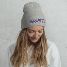 Load image into Gallery viewer, Grafitti Text, Unisex Cuffed Beanie