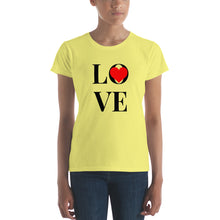 Load image into Gallery viewer, Love Heart, Women's Short Sleeve T-shirt