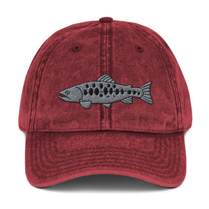 Salomon Fish Embroidered Vintage Cotton Dad Hat