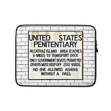 Load image into Gallery viewer, Alcatraz Sign, Laptop Sleeve