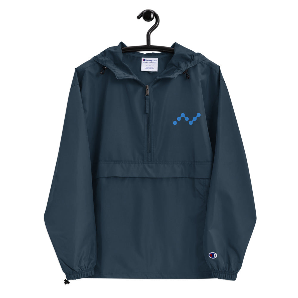 Nano Cryptocurrency Logo Embroidered Champion Packable Outdoors Jacket