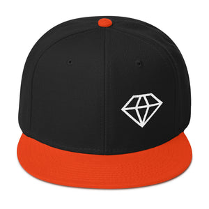 Diamond Shape Logo White, Snapback Hat