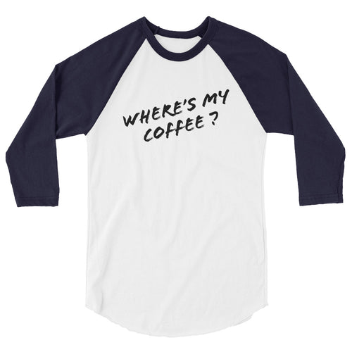 Where's My Coffee Women's Raglan Baseball Shirt