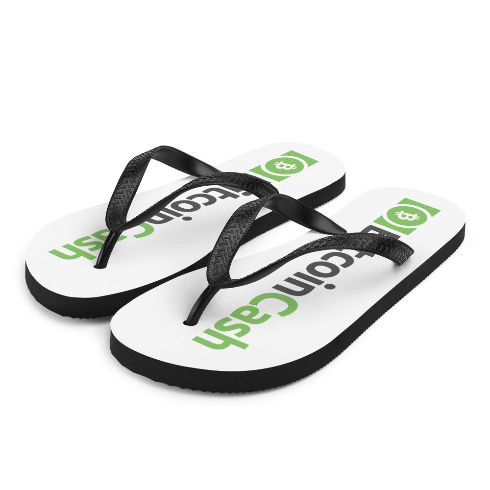 Bitcoin Cash Cryptocurrency Green, Unisex Shoes, flops