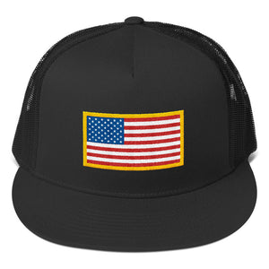 US Flag Patch Style, Classic Trucker Cap