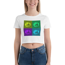 Load image into Gallery viewer, US Washington Quarter Dollar Coin Art, Women's Crop Tee