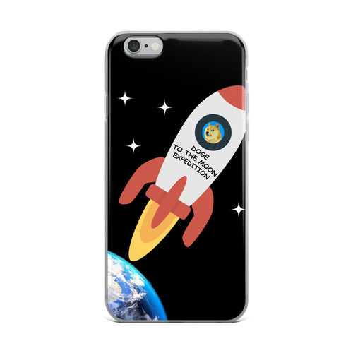 Doge To The Moon Expedition, iPhone Case