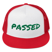 Load image into Gallery viewer, Passed Text Green, Trucker Cap