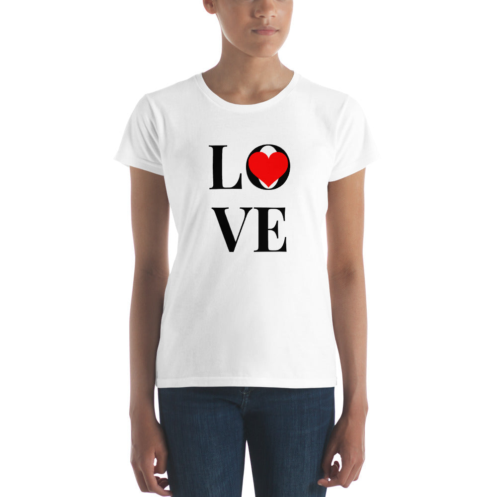 Love Heart, Women's Short Sleeve T-shirt