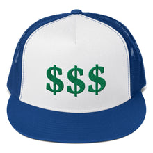 Load image into Gallery viewer, 3 USD Dollar Sign Green, Trucker Cap